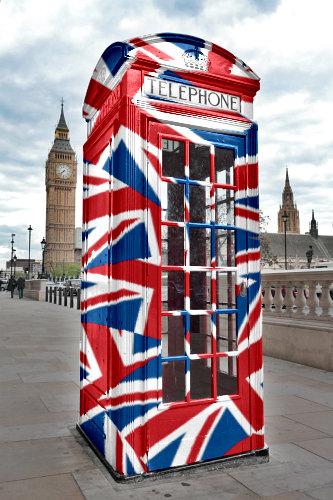 London Phone Box Union Jack