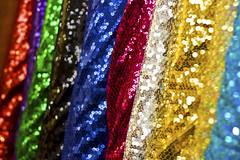 Fabric (brighteyesboy) Tags: colour bokeh sparkle fabric sequin