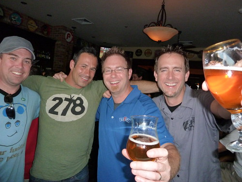 Kite & Key co-owner Jim Kirk with Sam Calagione, Bill Covaleski & Greg Koch