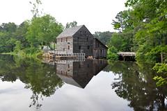 Yates Mill (DanaFlynt.me) Tags: trees reflection nikon northcarolina raleigh historic stillwater oldbuilding d90 yatesmillpond 18105mmf3556gvr