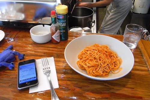 カフェ・ロンディーノにて、昼食