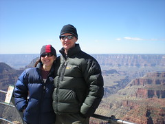 Clare & Dennis at Bright Angel Point