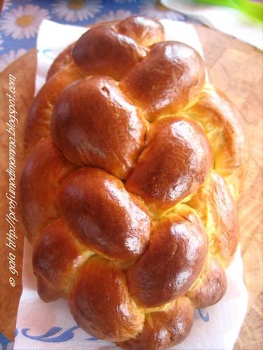 Treccia a 8 capi di pan brioche