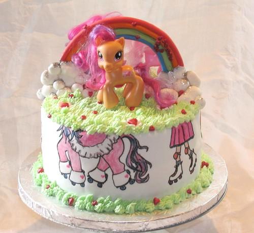 My Little Pony Skating Cake