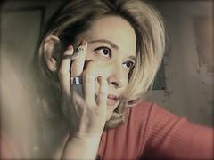 Later in the night (Monica Cillario) Tags: woman donna women cigarette smoke femme donne femmes fumo sigarette sigaretta