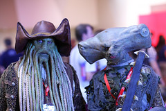 Davy Jones and Maccus 2010 Phoenix Comicon (gbrummett) Tags: phoenix lens eos comic mark 85mm ii 5d usm comicon 2010 phx davyjones maccus cameracanon f12l sharkmanpirates caribbeanpiratespiratecomicsmovies2010 conarizonacanon