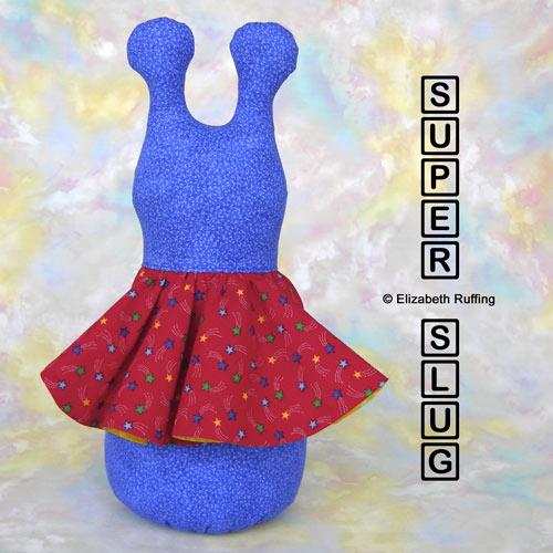 Blue 12 inch Super Slug by Elizabeth Ruffing