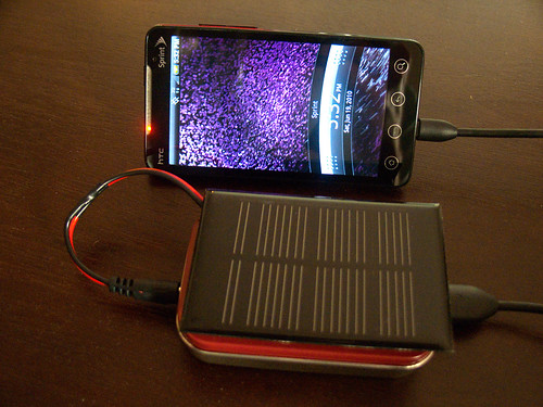 MightyMintyBoost charging Evo 4G