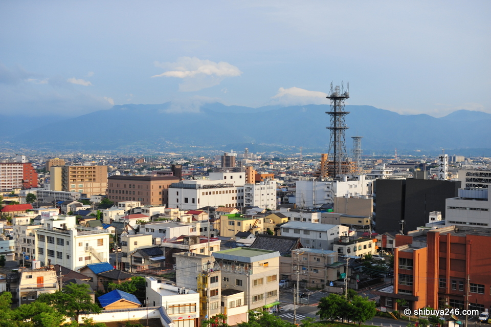The city of Kofu.
