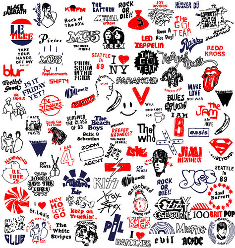Rose Stallad's rock logos