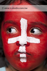 Go Switzerland (SanforaQ8) Tags: world africa camera red white macro cup girl face painting lens photo football model nikon fifa south picture pic kw 2010 q8 homestudio 105mm d3x sanfora nadamarafie najwamarafie nstudiolivecom wwwnstudiocomkw 66383888