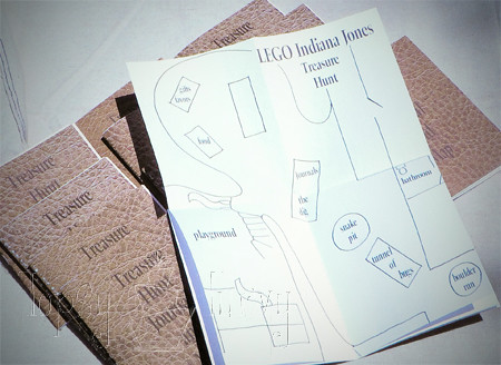 indiana jones birthday party journal map