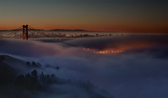 (exxonvaldez) Tags: sanfrancisco fog night sunrise goldengatebridge hdr marinheadlands sfist 101010