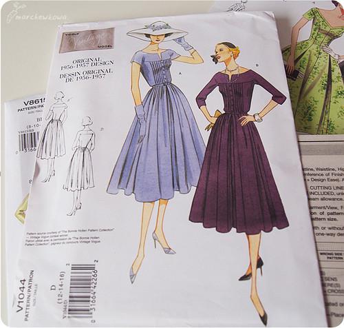 Vogue patterns, wykroje, lata '50, sukienki, retro, vintage, szycie, krawiectwo, voguepatterns.mccall.com, szafiarka, blog krawiecki, blog szafiarski