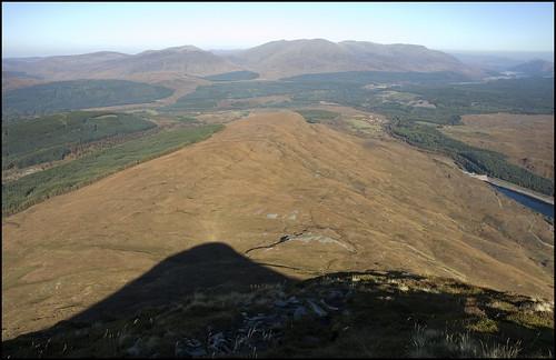 Descending Meall Cian Dearg