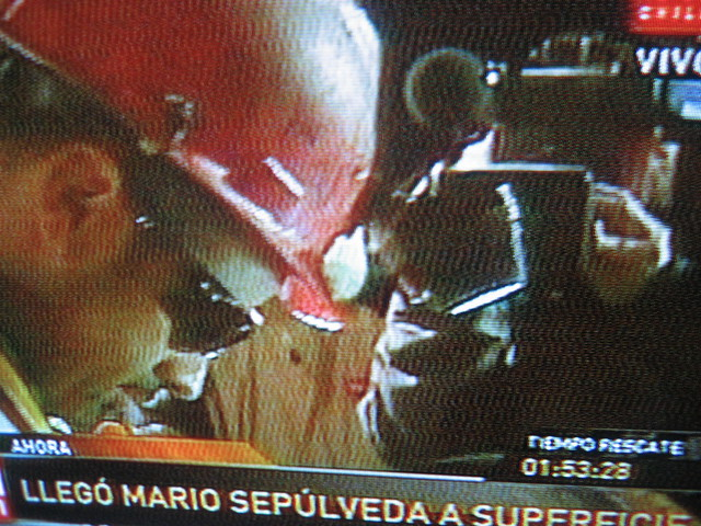 Foto Rescate del segundo minero Mario Sepúlveda