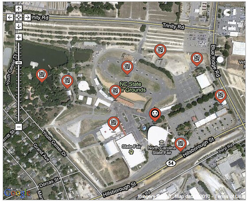 NC State fair scavenger hunt map