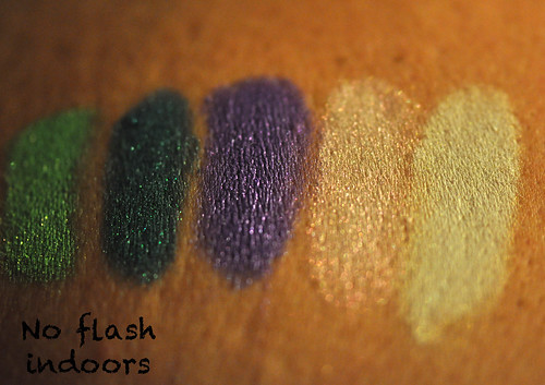 Peacockish Swatches 1