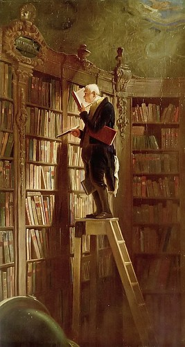 """The Bookworm"", 1850, by Carl Spitzweg"