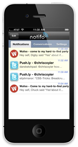 Notifio Message List