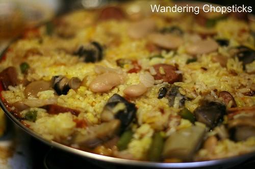 Paella Valenciana (Spanish Valencian Pan Rice) 14