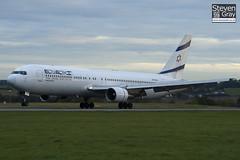 4X-EAJ - 25208 - EL AL Israel Airlines - Boeing 767-330ER - Luton - 101022 - Steven Gray - IMG_4020