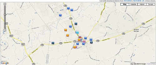 Waxhaw Crimereports October 2010