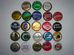 World Cup beer bottle tops (Pub Car Park Ninja) Tags: chile brazil england italy usa holland peru portugal beer argentina japan germany southafrica denmark spain czech beers asahi australia fosters badger czechrepublic xingu slovakia bud worldcup sanmiguel sierranevada jenya budweiser quilmes grolsch carlsberg lager brahma 2010 superbock paulaner cusquena savanna bitburger budvar tusker pilsnerurquell adnams lagers morretti canterburyjack birramorretti