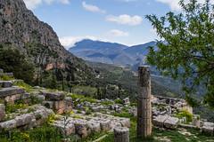 Greece (586).jpg (goodnightstrawberry) Tags: delphi greece greek column mountains ruins ancient