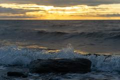 Sunset Murray Beach, New Brunswick (martinstelbrink) Tags: murraybeach campground campingplatz sunset sonnenuntergang beach strand surf brandung clouds wolken himmel sky sony alpha7r a7r voigtländervmeadapterii leicaelmarit90mmf28i leica elmarit 90mm f28