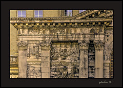 Detail Michigan Central Station (the Gallopping Geezer '5.0' million + views....) Tags: michigancentralstation depot trainstation abandoned decay decayed derelict ruins neglected train railroad travel transportation rail old historic homeless detroit mi michigan downtown canon 5d3 geezer 2016