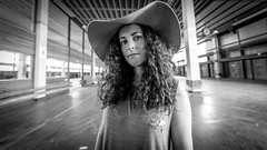 """#144 """"What the hell are you doing on this planet Gessica?"""" (Hendrik Lohmann) Tags: street streetphotography streetportrait portrait people project series whatthehell hendriklohmann duesseldorf wideangle blackandwhiteportrait blackandwhite nikondf nikon"""