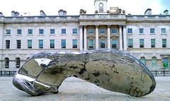 Marc Quinn Sculpture at Somerset House, London (Winfried Scheuer) Tags: metall chrome organic patina layers form volume avantgarde skulptur art giant huge gloss shiny koons