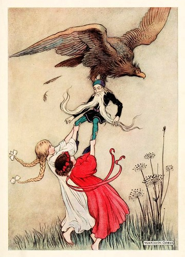 012-Blanca Nieve y la Rosa Roja-The fairy book  the best popular fairy stories -Goble Warwick 1913