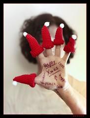 Merry Christmas ! (sediama (break)) Tags: red selfportrait me canon germany hand hannover wishes 7d jonas abigfave sediama ilovemypentax bysediamaallrightsreserved