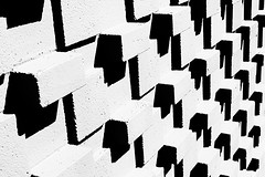 wall #1 (booksin) Tags: bw white black newmexico brick geometric monochrome wall contrast geometry angles albuquerque highkey angular booksin copyrightbybooksinallrightsreserved