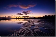Lights, Camera, Action (Matthew Stewart | Photographer) Tags: ocean blue sea cloud reflection water yellow clouds reflections australia qld queensland ripples christmasday toogoom craignish stingrayholes