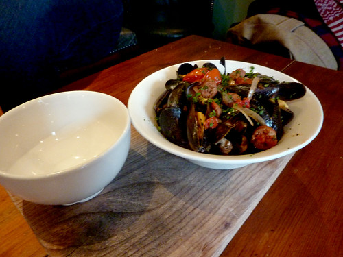 Mussels with Merguez