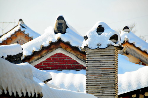 Bukchon Chimney and Roofs