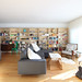 Living Room/ Library project by The 10 cent designer