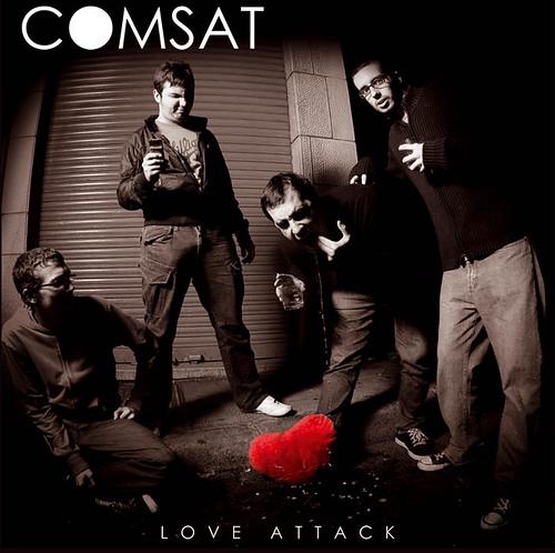 """Foto de portada para el segundo disco de Comsat """" love attack """". Presentación del nuevo CD en el Honky Tonk eXpress el día 26-02-2010 ."""