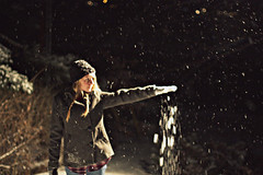 24/52 (shanon wise) Tags: winter snow cold fall girl hat night project outside snowflakes blonde weeks 52 shanonwise