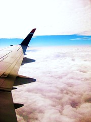 Somewhere over Texas. (lemarti13) Tags: life sky beautiful clouds contrast airplane lyrics texas wing creative