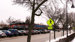 Southbound Metra local at the Glenview station. Glenview Illinois. January 2010.