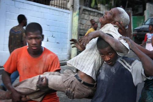 Rescuers in Haiti