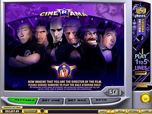 free Cinerama gamble bonus game