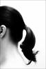ponytail (JunkByJo) Tags: ponytail hair blackandwhite picnik ear msh051313 msh0513