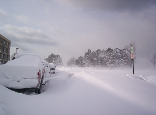 Snow Drifts in Oswego, Oswego County, New York