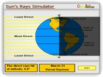 Sun's Rays Simulator