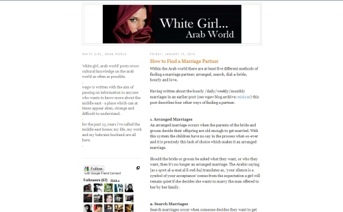 White Girl, Arab World